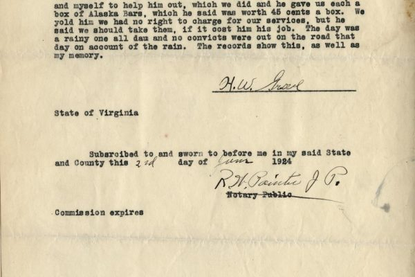 Affidavit of H.W. Groves