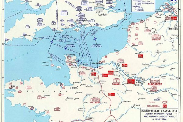 Map of Allied invasion forces