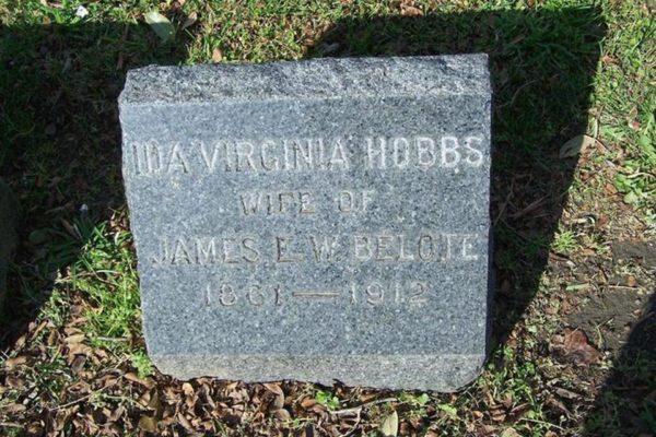 Ida Belote's tombstone