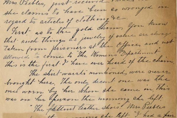 Letter from Ellen Bradley pg. 1