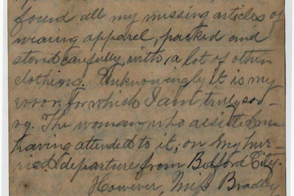 Letter from Peebles pg. 1