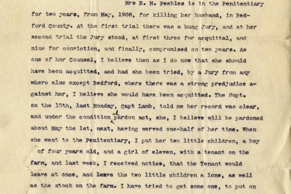 Letter from Clarence Campbell pg. 1