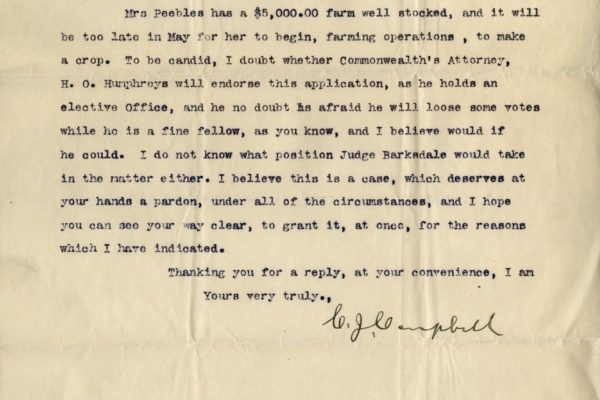 Letter from Clarence Campbell pg. 2