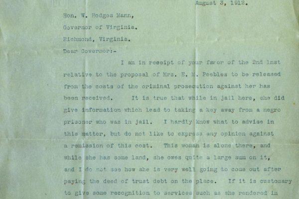 Letter from Henry Hodges pg. 1