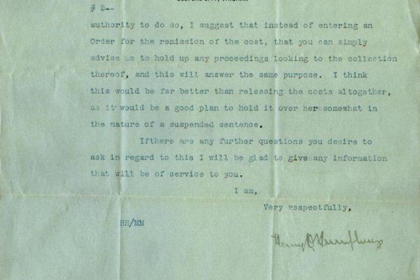 Letter from Henry Hodges pg. 2