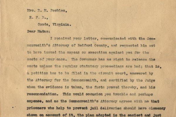 Letter to Mrs. E.M. Peebles