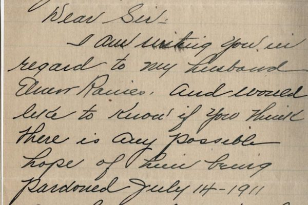 Letter from Mrs. W.H. Reynolds pg. 1