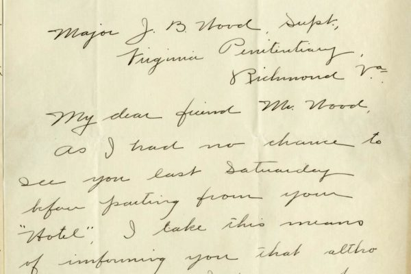 Letter from William H. Reynolds pg. 1
