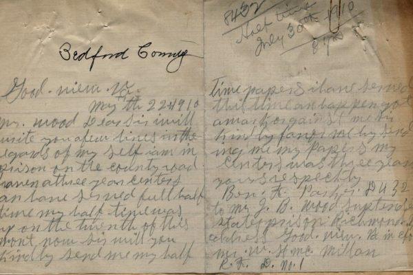 Letter from Ben F. Parker