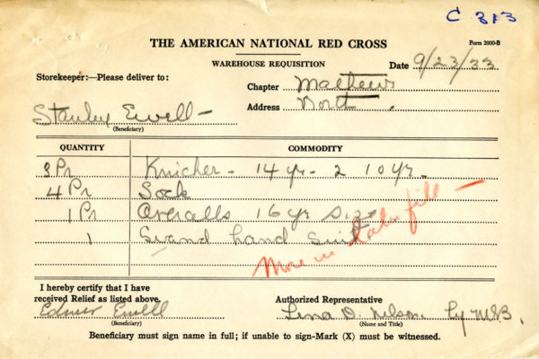 Requisition for Stanley Ewell