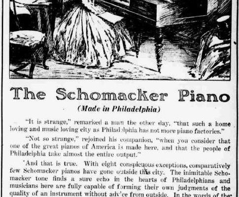 Schomacker Piano Ad