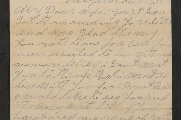 Letter from Richard Turner pg. 1