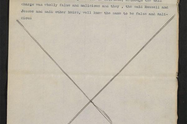 Bill of F. E. Parsons