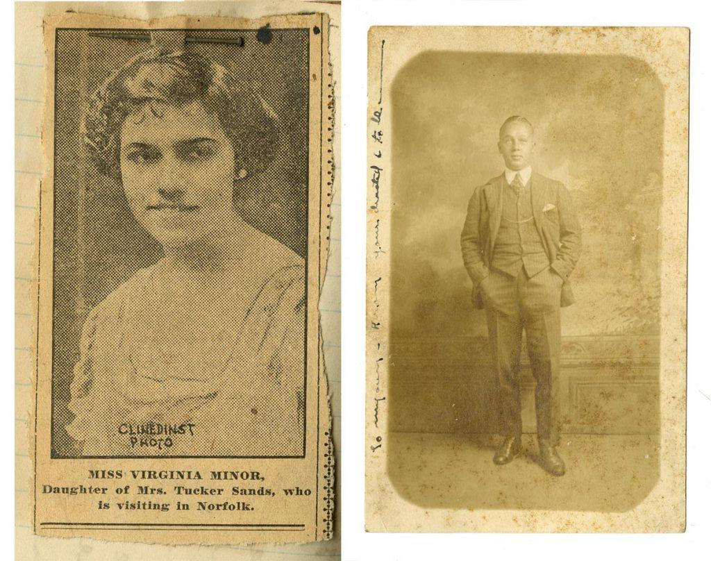 Photos of Virginia Lee Minor and Robert B. Roosevelt Jr.