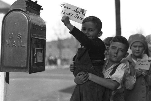 Children Mailing Letter to Santa