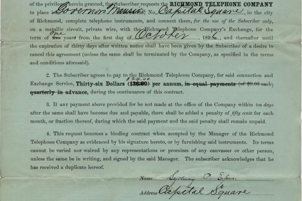 Contract with Richmond Telephone Company pg. 2