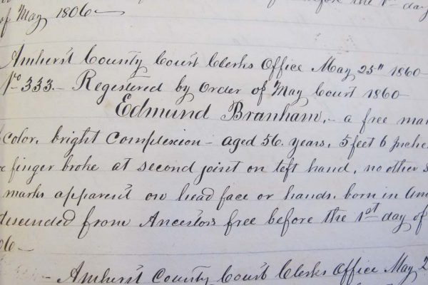 Register of Edward Branham