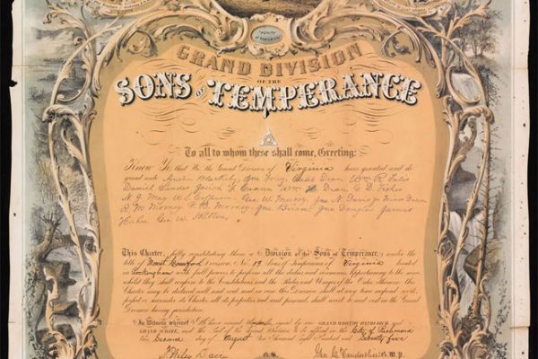 Charter for the Sons of Temperance