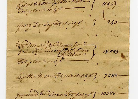 Accomack County Census 1728