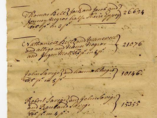 Accomack County Census 1728 pg 2