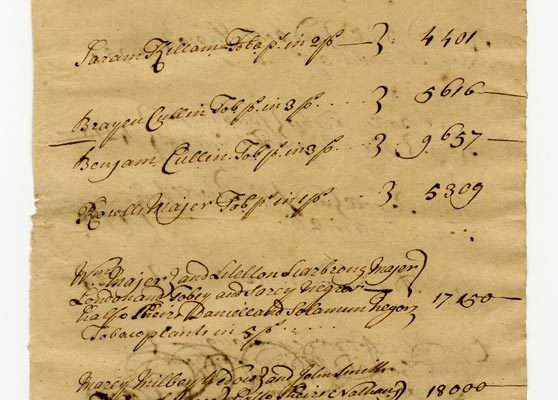Accomack County Census 1728 pg 3