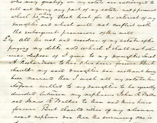 Will of James Richardson