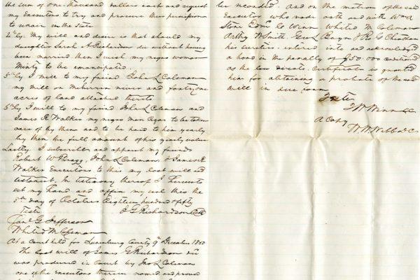 Will of James Richardson pg 2