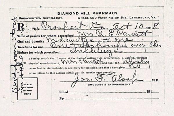 Prescription for Mrs. R.E. Paulett