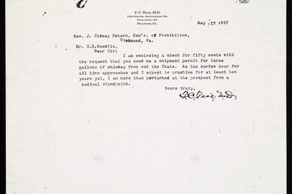 Letter from F.C. Tice