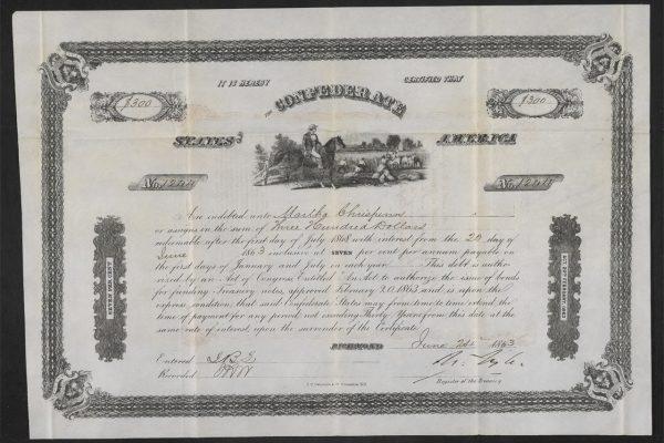 Confederate States of America bond