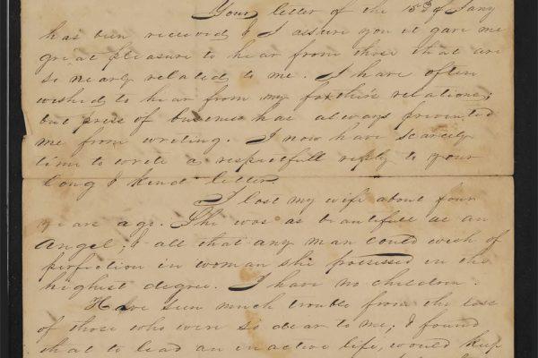 Letter from Elliott P. Jones