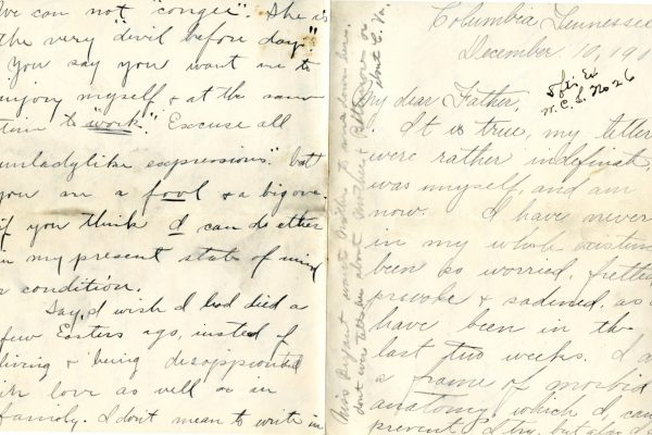 Larla Shelley 10 Dec. 1905 Letter