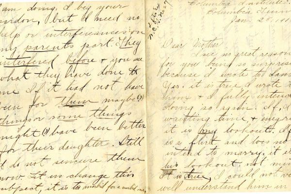 Larla Shelley 25 Jan. 1906 Letter