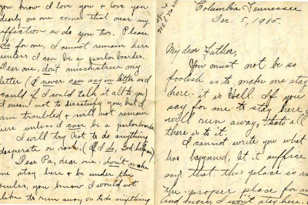 Larla Shelley 5 Dec. 1905 Letter