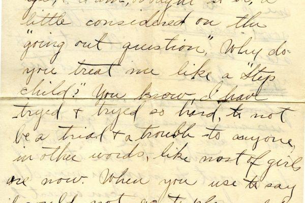 Larla Shelley 24 Jan. 1906 Letter