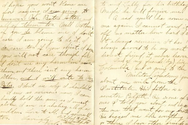 Larla Shelley to Nannie Shelley pg.3