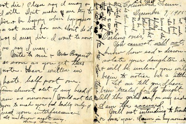 Larla Shelley 8 Dec. 1905 Letter