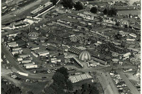 Aerial view of the fair