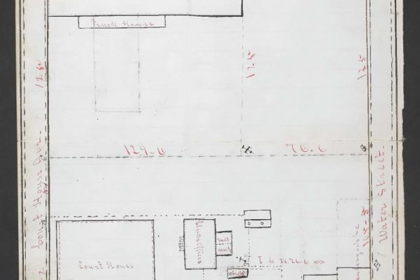 Plat of courthouse property
