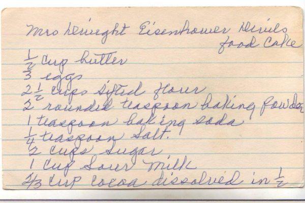 Mrs. Eisenhower's Devil's Food Cake