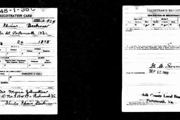 WWI Draft Registration Cards