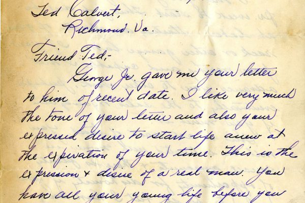 Letter from George Raddue