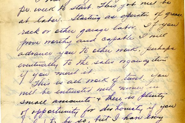 Letter from George Raddue pg. 2