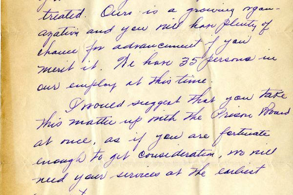 Letter from George Raddue pg. 3