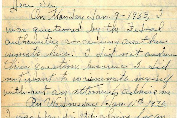 Letter from Calvert