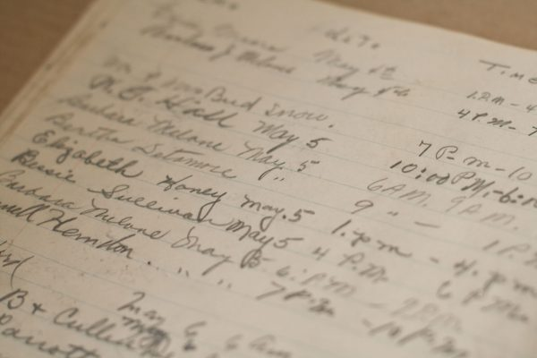 Page from Log Book