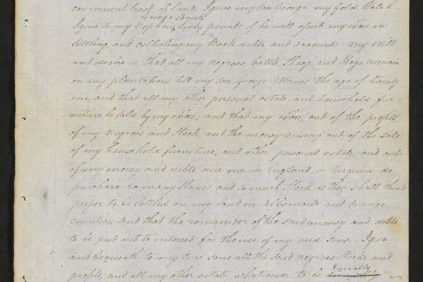 Will of George Braxton