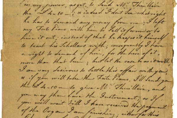 Letter to James Southall
