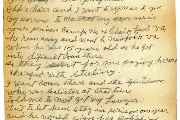 Letter from Rev. Lindsay Carr
