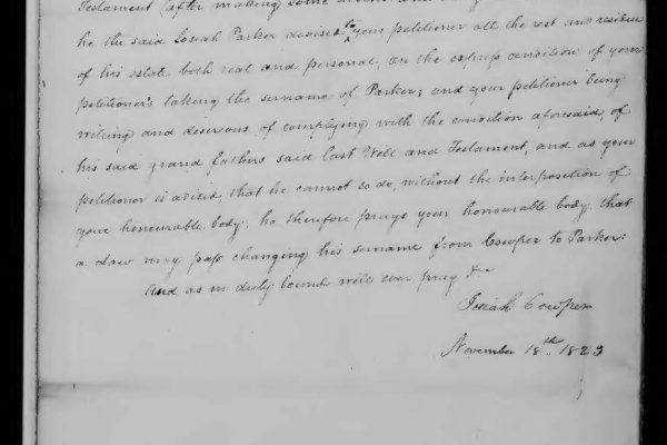 Petition of Cowper